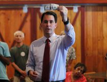 U.S. Republican presidential candidate and Wisconsin Governor Scott Walker