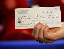 Salvation Army cheque