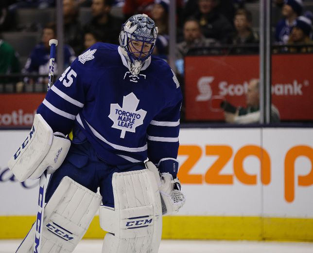 Leafs season not going as planned for back-up Bernier