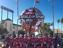 The Kelvin High School cheerleading team received a bronze at  a world cheerleading championship in Orlando, Fla., on the weekend.
