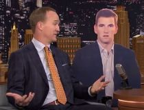Peyton Manning on The Tonight Show.