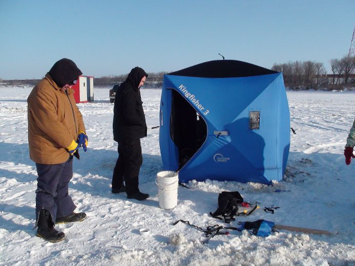 Ice Fishing Huts Ordered Off Red River Manitoba News