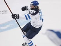 Patrik Laine of Finland celebrates after scoring against Russia during their 2016 IIHF World Junior Ice Hockey Championship final match in Helsinki, Finland, January 5, 2016.