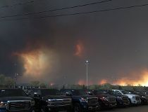 A 2 p.m. photo from downtown Fort McMurray