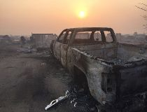 Fort McMurray aftermath truck