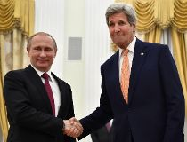 U.S. Secretary of State John Kerry and Russian President Vladimir Putin