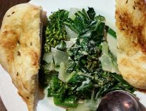 The Juniper's mild, creamy green curry with flatbread