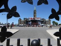 Canada Day prep on Parliament Hill