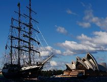 Tall Ships Sail Into Sydney Harbour