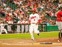 Goldeyes vs. Fargo Red Hawks, Aug. 23, 2016.