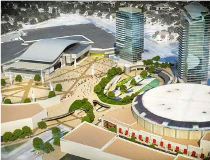 Artist rendering of Northlands Ice Coliseum and surrounding area.