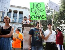 Guns On Campus Texas protest