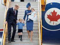 will and kate - victoria visit