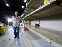 Food bank shelves empty