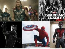 The Avengers, Guardians of the Galaxy, Ant-Man, Spider-Man and Black Panther