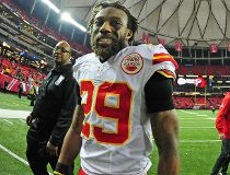Eric Berry #29 of the Kansas City Chiefs celebrates after the game against the Atlanta Falcons at the Georgia Dome on December 4, 2016 in Atlanta, Georgia. (Photo by Scott Cunningham/Getty Images)