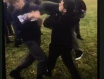 student fight video