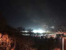 A view of Besiktas football club stadium after explosions