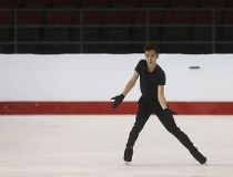 Nam Nguyen practices during the National Skating Championships at TD Place in Ottawa Ontario Thursday January 19, 2017.
