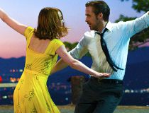 """This image released by Lionsgate shows Ryan Gosling, right, and Emma Stone in a scene from, """"La La Land."""" The film was nominated for an Oscar for best picture on Tuesday, Jan. 24, 2017. The 89th Academy Awards will take place on Feb. 26. (Dale Robinette/L"""