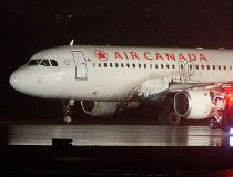 Plane skids off Pearson runway