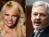 Pamela Anderson and Julian Assange