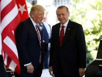 President Donald Trump welcomes Turkish President Recep Tayyip Erdogan