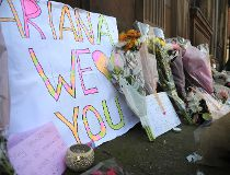 Ariana sign at Manchester vigil