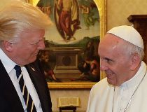 Pope Francis meets with U.S. President Donald Trump