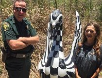 Swan statue found May 26/17