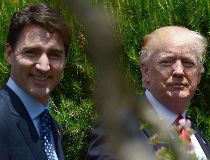 Prime Minister Justin Trudeau and U.S. President Donald Trump