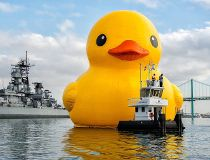 The world's largest rubber duck is on a six-city tour to celebrate Canada's 150th birthday, ending in Brockville Aug. 10-13.