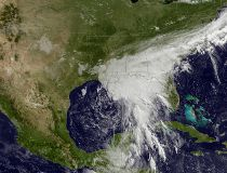 Tropical weather satellite image