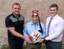 Logan Bandy, St Francis High School, Al Azhar Shriners Potentate Karl Fraser and Tyler Packer,