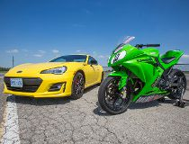 Car vs. bike: Which one's faster – and more fun – around a track?