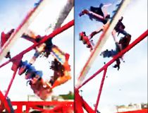 Video of the moment a ride at the Ohio State Fair malfunctioned.