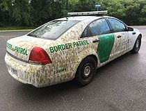 Manure-coated border patrol car