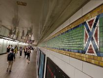 NYC Subway Confederate Flag Tiles