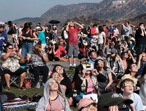 LA solar eclipse viewing