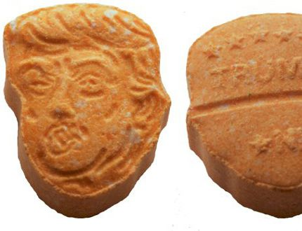 5,000 orange Trump-shaped ecstasy tablets seized by German police