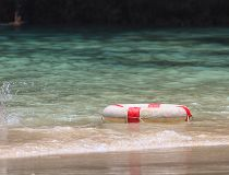 life buoy in water