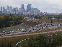 Deerfoot bridge construction