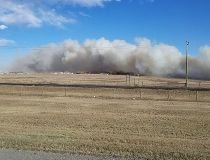 Airdrie grass fire