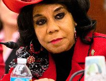 In this Nov. 18, 2015 file photo, House Education and the Workforce Committee member Rep. Frederica Wilson, D-Fla., attends a conference of House and Senate negotiators try to resolve competing versions of a rewrite to the No Child Left Behind education l