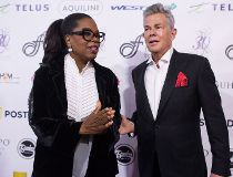 Oprah Winfrey and David Foster