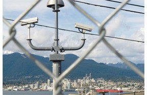 Security camera at Port Metro Vancouver