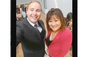 Even though critics have been appalled at the way Vancouver South MP Wai Young compared her Conservative Party to Jesus Christ, her comments are not uncommon in evangelical circles. (Photo: Young poses for a selfie with Pastor Shea Riley of Harvest City Church.)