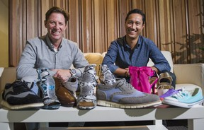 Roger Hardy (left) and Sean Clark, co-founders of Vancouver's ShoeMe.com