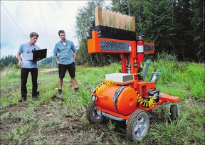 Robots and other forms of Artificial Intelligence could replace millions of workers, including in offices. A basic income for all might be necessary. (Photo: University of Victoria students have constructed a tree-planting robot,  which could eliminate thousands of tree-planting jobs in B.C. alone.)