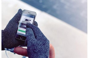 Mujjo touchscreen gloves —   It's always warmer keeping your gloves on to talk or text, and Mujjo has updated its touchscreen gloves with a leather wrist strap and band on the cuffs, magnetic snap closure and double-layered versions for colder climates. The gloves are knitted but if you're not on a budget (and not averse to wearing leather), they also come in lambskin leather at $110. The single layer version is just over $30, while double layered is $37. Visit mujjo.com.
